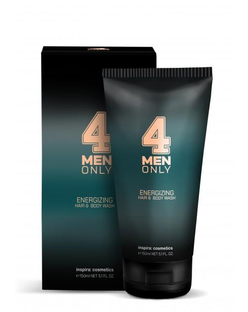 Гель тонізуючий очищуючий для волосся і тіла 4 Men Only TM Inspira: cosmetics, 150мл