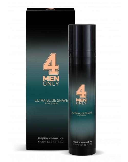 Гель-крем ультрам'який для вмивання і гоління 4 Men Only TM Inspira: cosmetics, 75мл