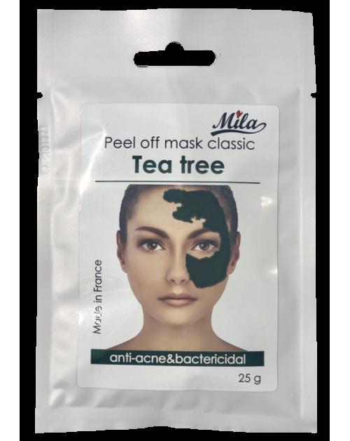 чайне дерево,верба - антиакне/Mask peel-off Tea Tree,ТМ Mila,Франція 25г